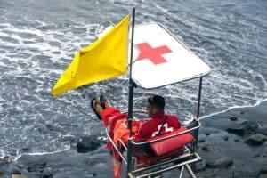Lifeguard Warning Flag